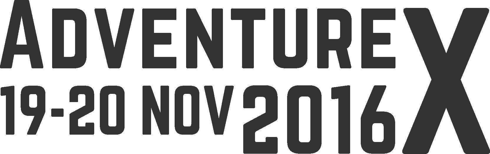 AdventureX Logo with Date